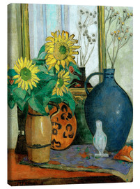 Canvas print  Sunflowers with Matisse shell - Oskar Moll