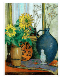 Premium poster Sunflowers with Matisse shell