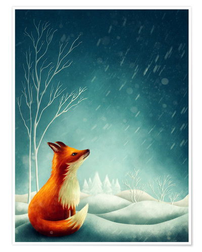 Premium poster Fox in winter