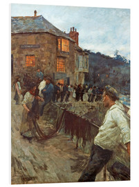 Foam board print  The wharf in Newlyn - Stanhope Alexander Forbes