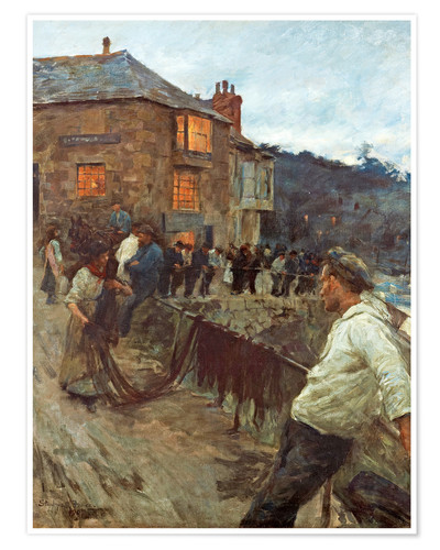 Premium poster The wharf in Newlyn