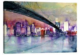 Canvas print  New York, Brooklyn Bridge III - Johann Pickl