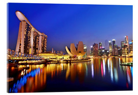 Acrylic print  Singapore skyline at night