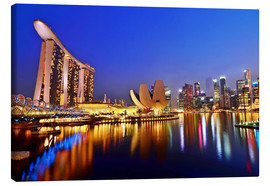 Canvas print  Singapore skyline at night