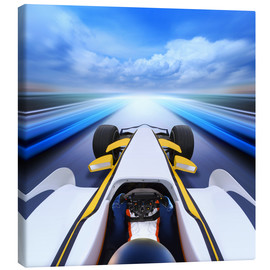Canvas print  F1 car at full speed