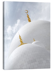 Canvas print  white cupolas of sheikh zayed mosque