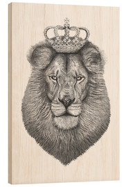 Wood print  The King - Valeriya Korenkova