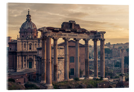 Acrylic print  The Roman Forum at sunrise