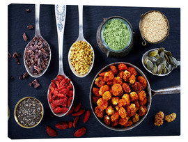 Canvas print  Various superfoods