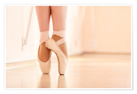 Premium poster  Legs of the ballerina