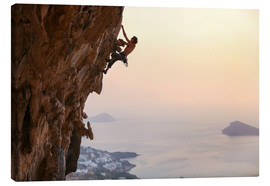 Canvas print  Climber on Kalymnos - Greece