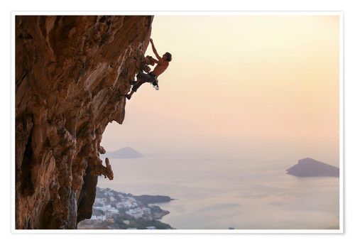 Premium poster Climber on Kalymnos - Greece