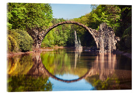 Acrylic glass  Rakotzbrucke aka Devil Bridge in Kromlau