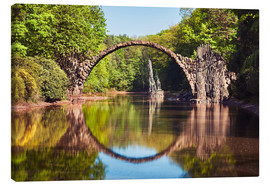 Canvas print  Devil Bridge, Kromlau