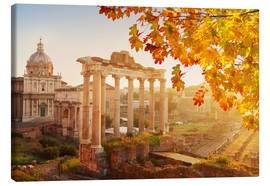 Canvas print  Roman ruins in the sunlight