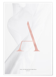Premium poster ROSE GOLD LETTER COLLECTION A