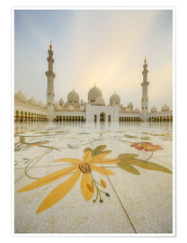 Premium poster  Courtyard of Sheikh Zayed Grand Mosque