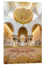 Acrylic glass  Gold sheen of the Sheikh Zayed Mosque