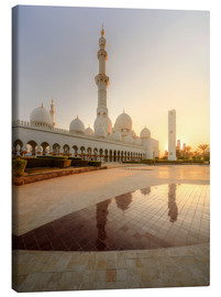Canvas  Sheikh Zayed mosque in golden robe