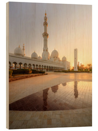 Wood print  Sheikh Zayed mosque