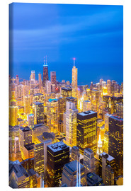 Canvas print  Chicago City at night