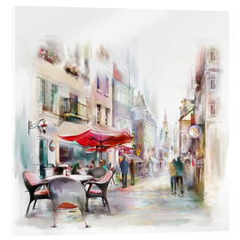 Acrylic print  Scene at a Parisian cafe