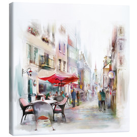 Canvas print  Scene at a Parisian cafe