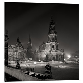 Acrylic print  Dresden Frauenkirche in winter