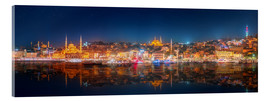 Acrylic glass  Istanbul and Bosporus at night
