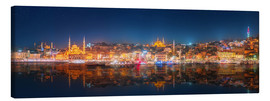 Canvas print  Istanbul and Bosporus at night