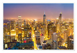 Premium poster  Golden Chicago