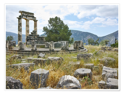 Premium poster Athena Pronaia Sanctuary - site of Delphi