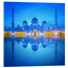 Sheikh Zayed Grand Mosque at blue