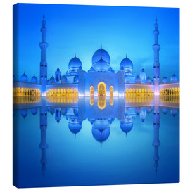 Canvas  Sheikh Zayed Grand Mosque in blue