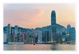 Premium poster Skyline of Victoria Harbor, Hong Kong