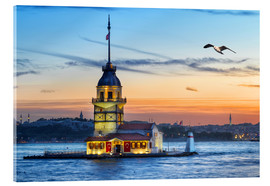 Acrylic glass  Maiden's Tower on the Bosphorus