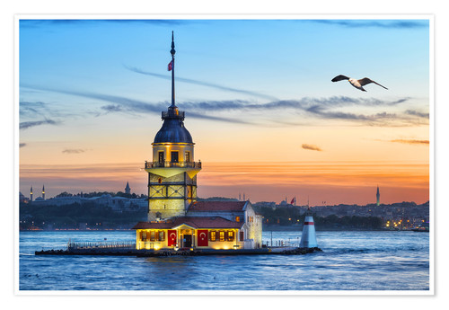 Premium poster Maiden's Tower on the Bosphorus