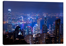 Canvas print  View of Hong Kong from Victoria Peak