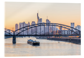 Acrylic print  Frankfurt at sunset