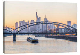 Canvas print  Frankfurt at sunset