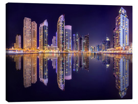 Canvas print  The beauty of the marina in Dubai