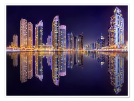 Premium poster  The beauty of the marina in Dubai