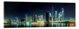 Panorama of the business houses of Dubai