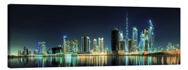 Canvas print  Panorama of the business houses of Dubai