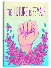 Canvas print  The future is female