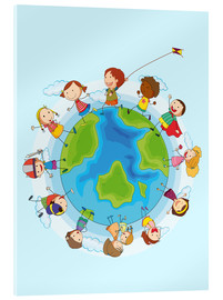 Acrylic glass  Children of the world - Kidz Collection