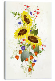 Canvas print  Sunflower bouquet