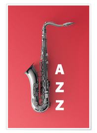 Premium poster Saxophone on color