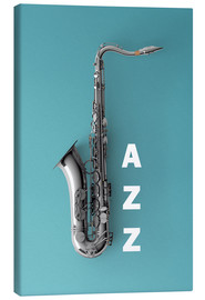 Canvas  Saxophone on color II