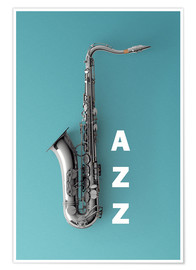 Poster  Saxophone on color II